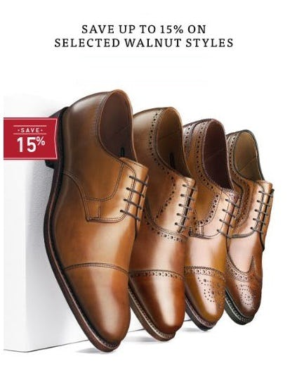 Up to 15% Off Selected Walnut Styles