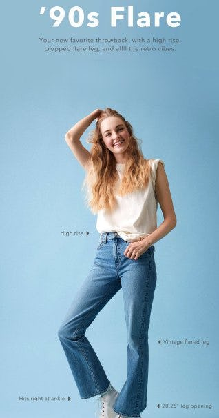 Just Dropped: The '90s Flare from American Eagle Outfitters