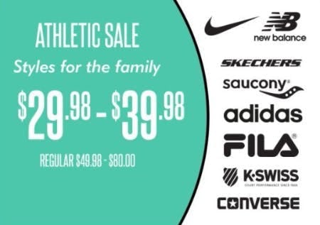Athletic Sale: $29.98–$39.98