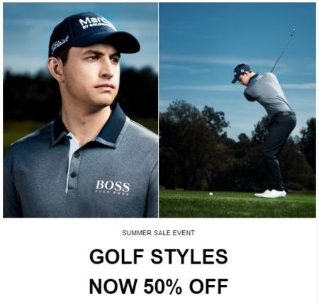 Golf Styles now 50% Off