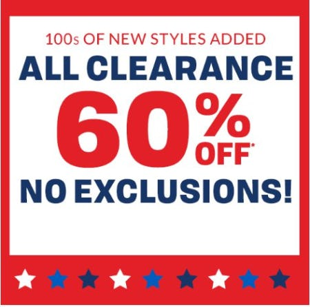 All Clearance 60% Off