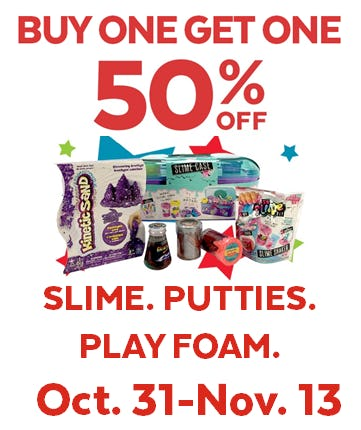 Slime, Putties & Play Foam BOGO 50% Off from Go! Calendars Games & Toys