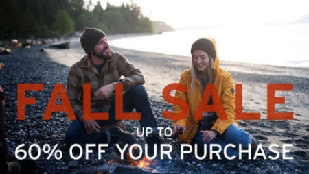 Up to 60% Off Fall Sale