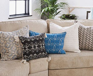Summer Throw Pillows from Lovesac Designed For Life Furniture Co