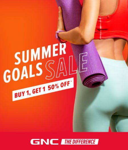 Summer Goals Sale: Buy 1, Get 1 50% Off from GNC