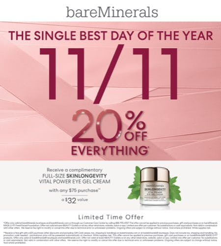 National Singles Day from bareMinerals
