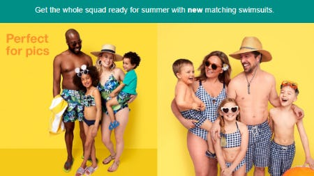 Our New Matching Swimsuits