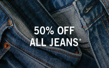 50% Off All Jeans from Abercrombie & Fitch