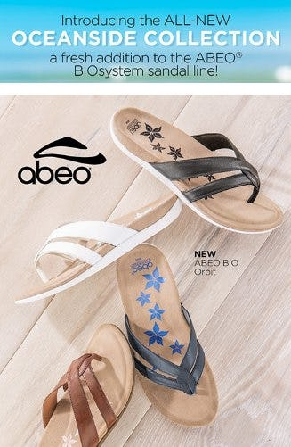 NEW Customized Sandal Arrivals from ABEO from THE WALKING COMPANY