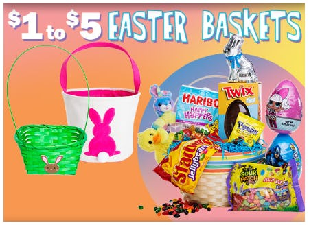 $1 to $5 Easter Baskets from Five Below