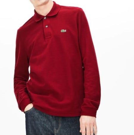 Meet the Long Sleeve Polo from Lacoste
