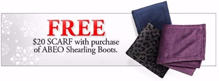 Free $20 Scarf With Purchase of ABEO Shearling Boots