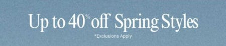Up to 40% Off Spring Styles from Lucky Brand Jeans