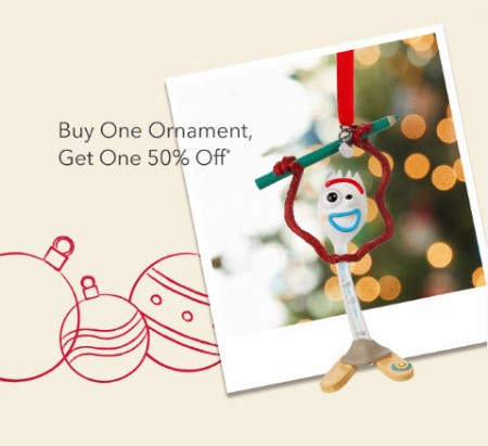 BOGO 50% Off Ornament from Disney Store