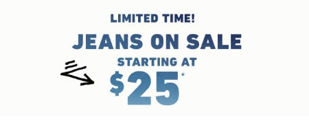 Jeans on Sale Starting at $25 from Hollister California