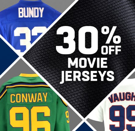 30% Off Movie Jerseys from Lids