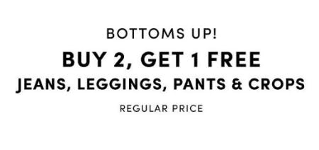 Buy 2, Get 1 Free Jeans, Leggings, Pants & Crops
