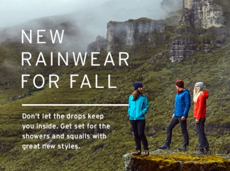New Rainwear for Fall from Eddie Bauer