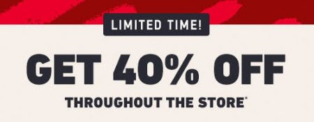 Get 40% Off Throughout the Store from Hollister Co.
