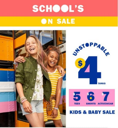 Kids & Baby Sale from Old Navy