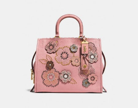 Rogue With Snakeskin Tea Rose Rivets from Coach