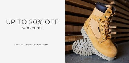 Up to 20% Off Workboots