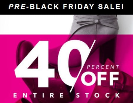 40 Percent Off Entire Stock from Payless ShoeSource