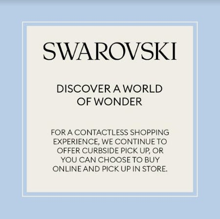 Contactless Shopping Experience from Swarovski