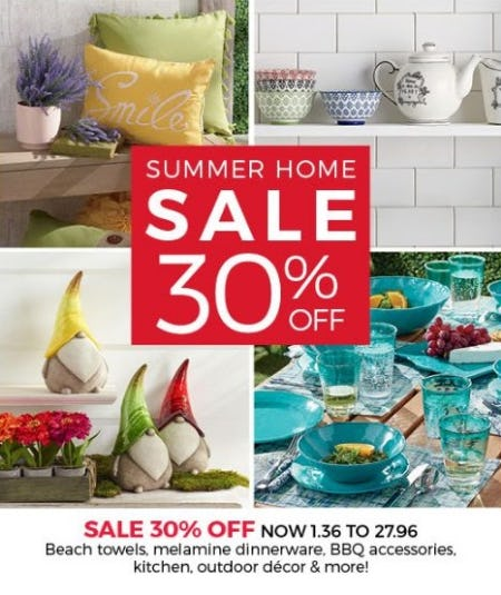 Summer Home Sale 30% Off from Stein Mart