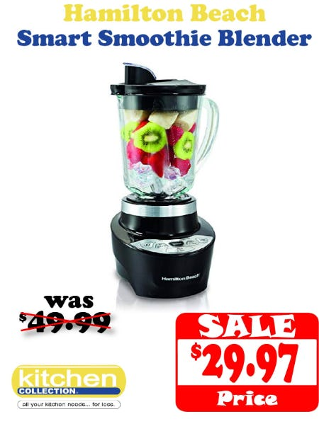 40% off Hamilton Beach Smart Smoothie Blender from Kitchen Collection