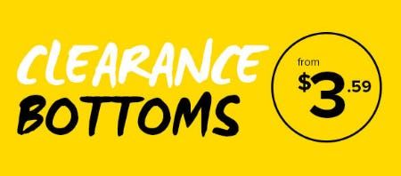 Clearance Bottoms from $3.59 from Rainbow
