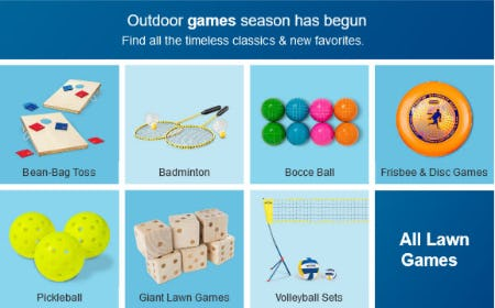 Outdoor Games Season has Begun from Target