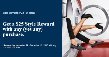 $25 Style Reward with Any Purchase from ALDO Shoes