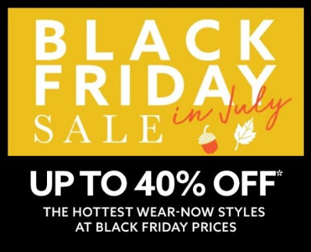 Up to 40% Off Black Friday in July Sale from Lord & Taylor