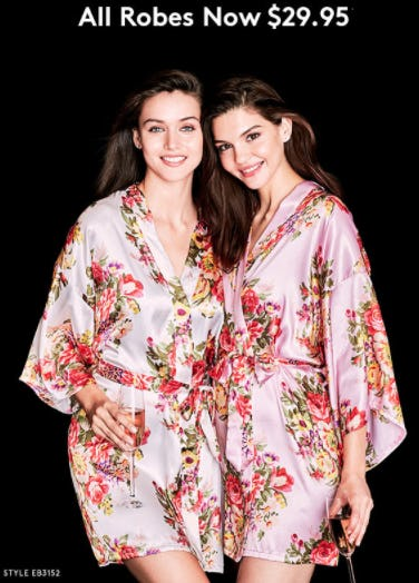 $29.95 All Robes from David's Bridal