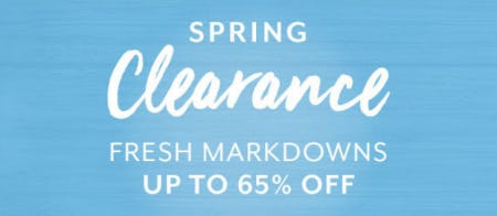 Up to 65% Off Spring Clearance