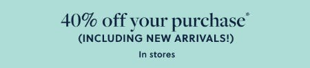 40% Off Your Purchase from J.Crew-on-the-island