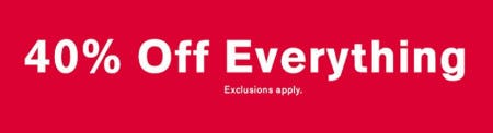 40% Off Everything from Express Factory