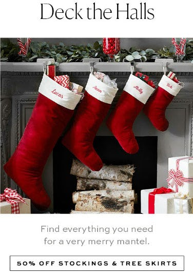 50% Off Stockings & Tree Skirts from Pottery Barn