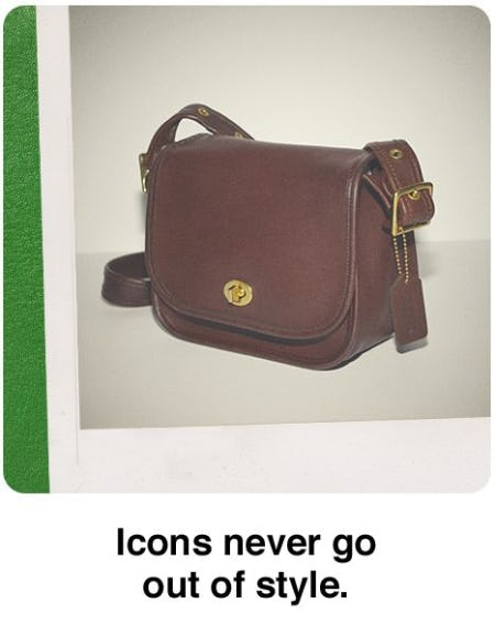 Icons Never Go Out of Style from Coach