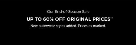 End-of-Season Sale: Up to 60% Off