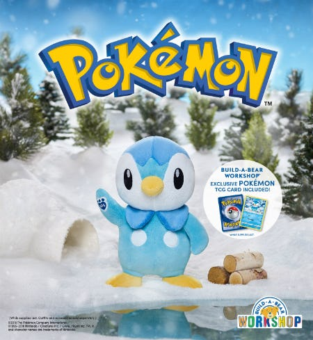 Make a Splash with Piplup! from Build-A-Bear Workshop
