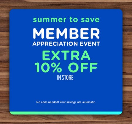 Extra 10% Off Member Appreciation Event from Sears