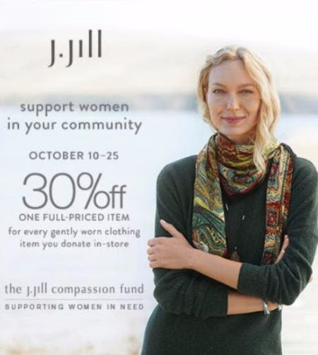 The J. Jill Compassion Fund. Supporting Women in Need