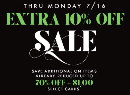 Extra 10% Off Sale from PAPYRUS