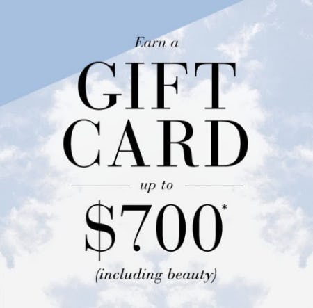 Up to $700 Gift Card from Saks Fifth Avenue