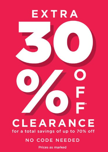 Extra 30% Off Clearance from Lord & Taylor