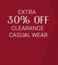 Extra 30% Off Clearance Casual Wear from Men's Wearhouse and Tux