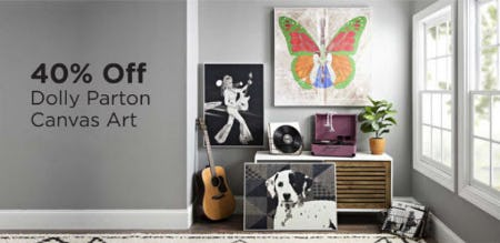 40% Off Dolly Parton Canvas Art from Kirkland's