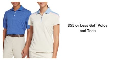 $55 or Less Golf Polos and Tees from Golf Galaxy